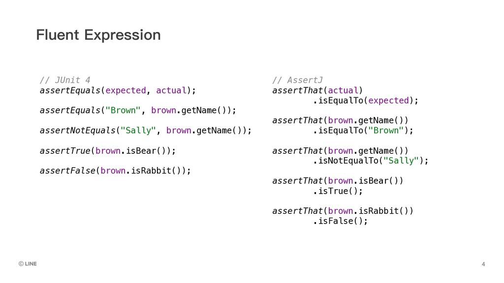 )OXHQW([SUHVVLRQ // JUnit 4 assertEquals(expec...