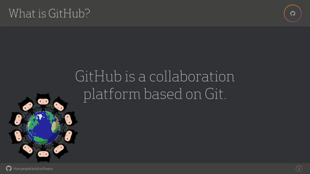 How people build software ! ! What is GitHub? 5...