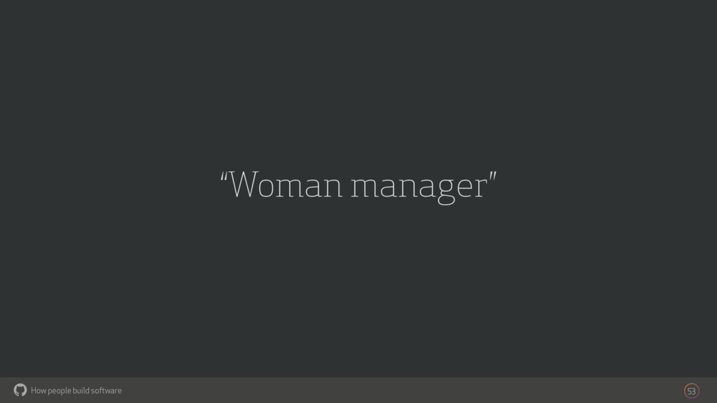 "How people build software ! ""Woman manager"" 53"
