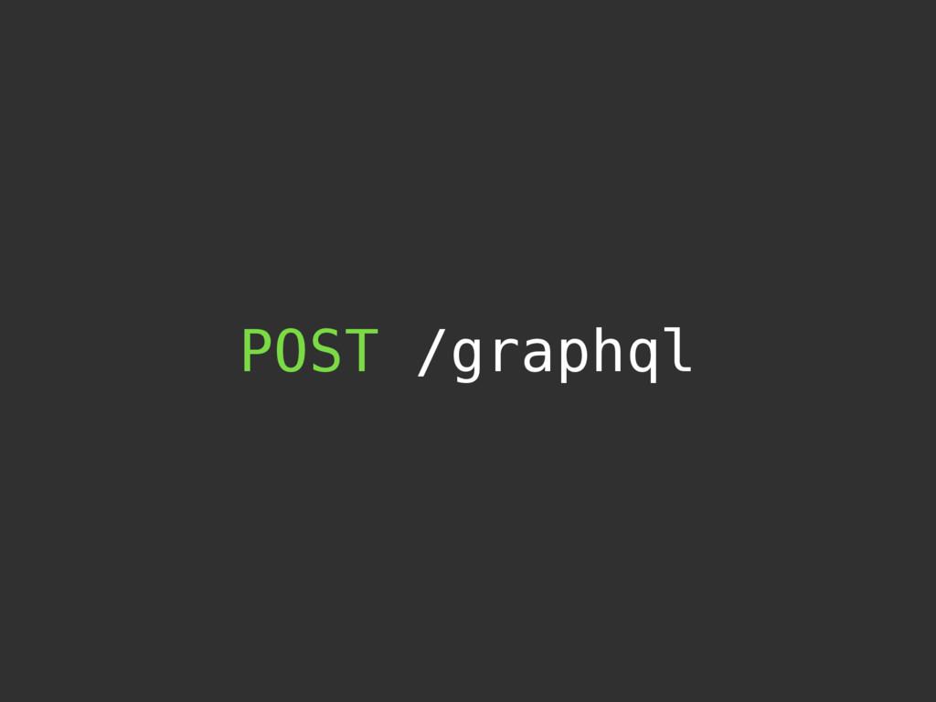 POST /graphql