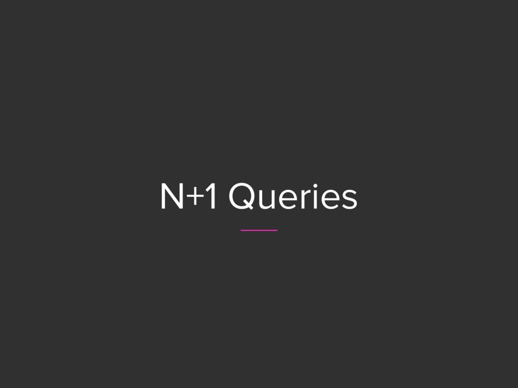 N+1 Queries