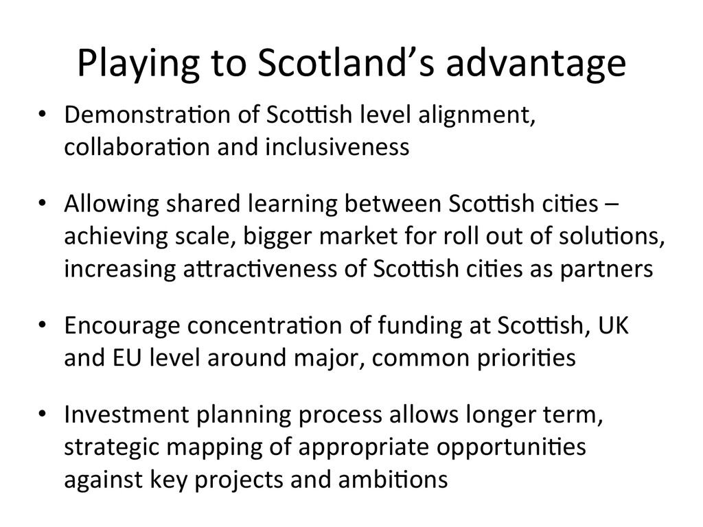 Playing to Scotland's advantage  •...