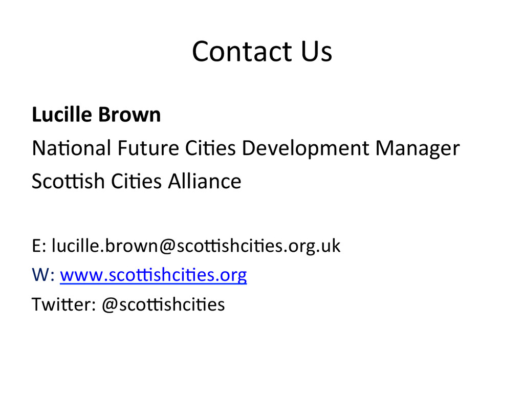Contact Us  Lucille Brown  Na*onal...