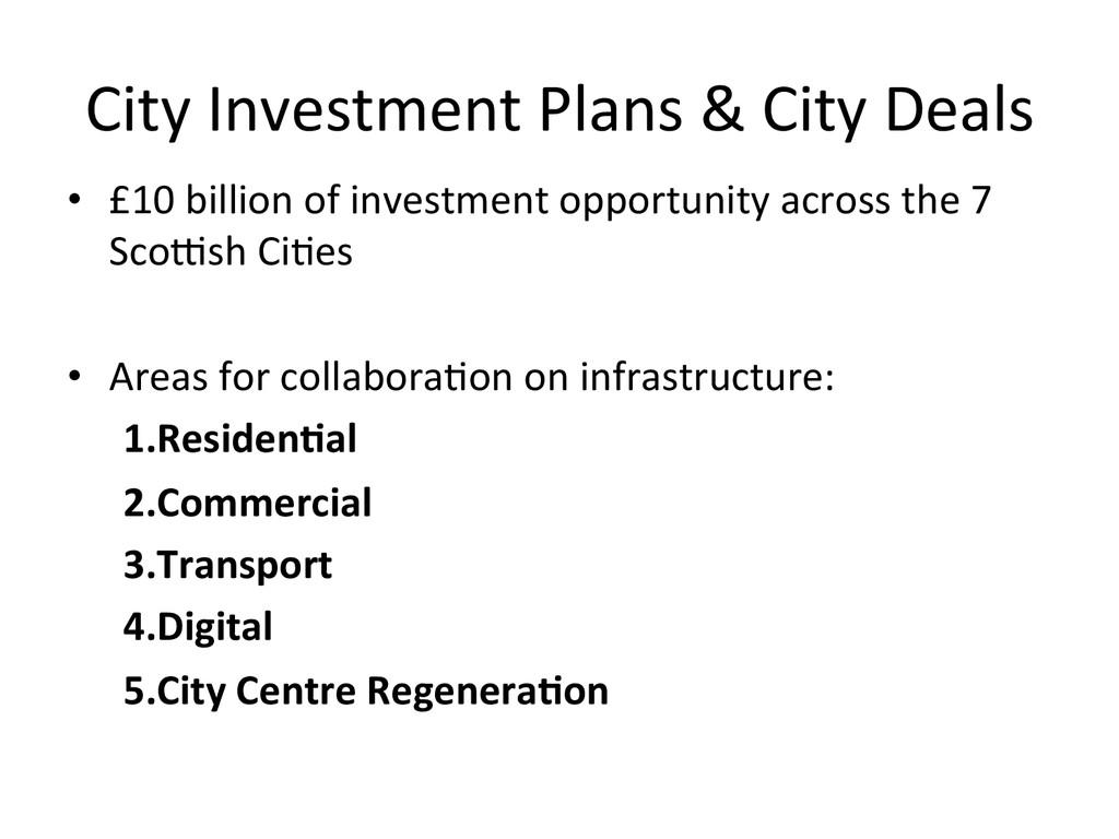 City Investment Plans & City Dea...