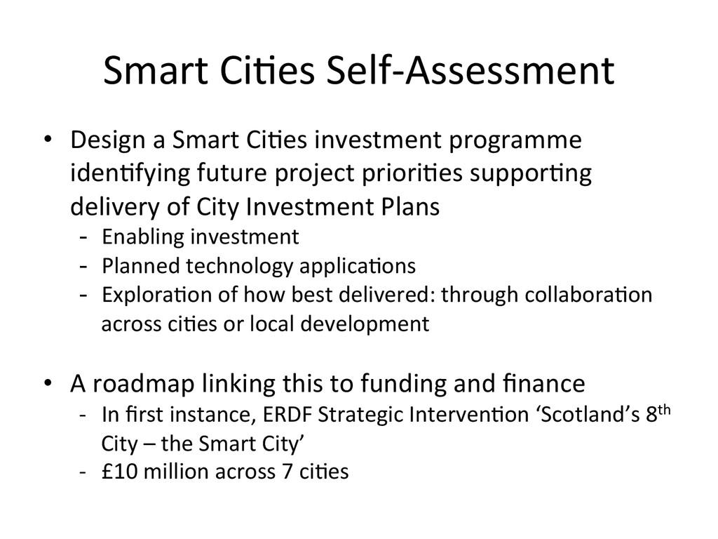 Smart Ci*es Self-‐Assessment  • Desi...