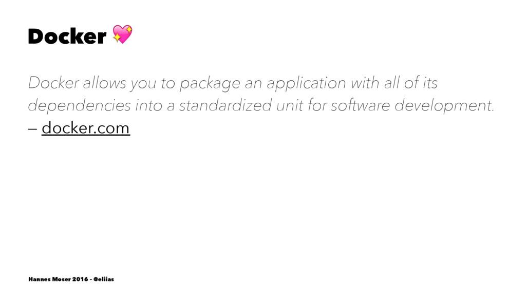 Docker ! Docker allows you to package an applic...
