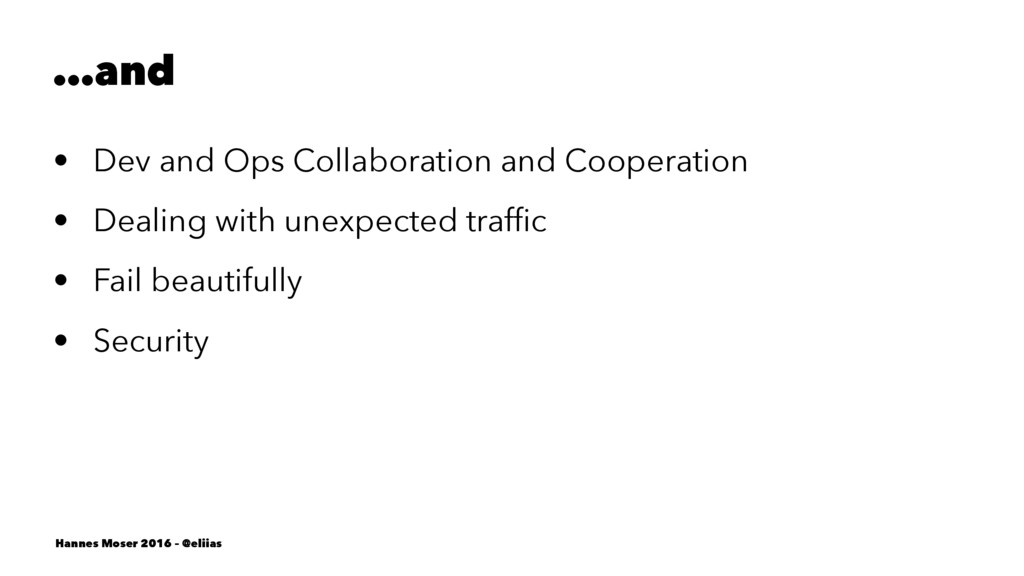 …and • Dev and Ops Collaboration and Cooperatio...
