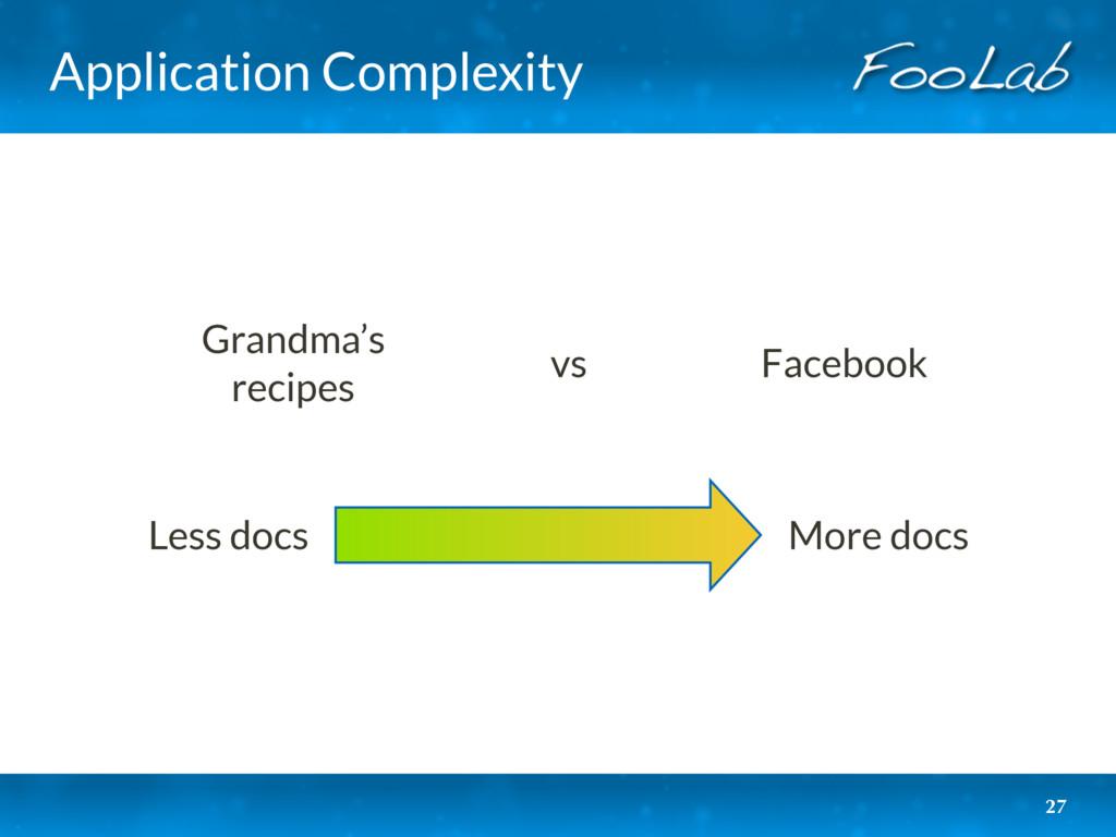 Application Complexity 27 More docs Less docs G...