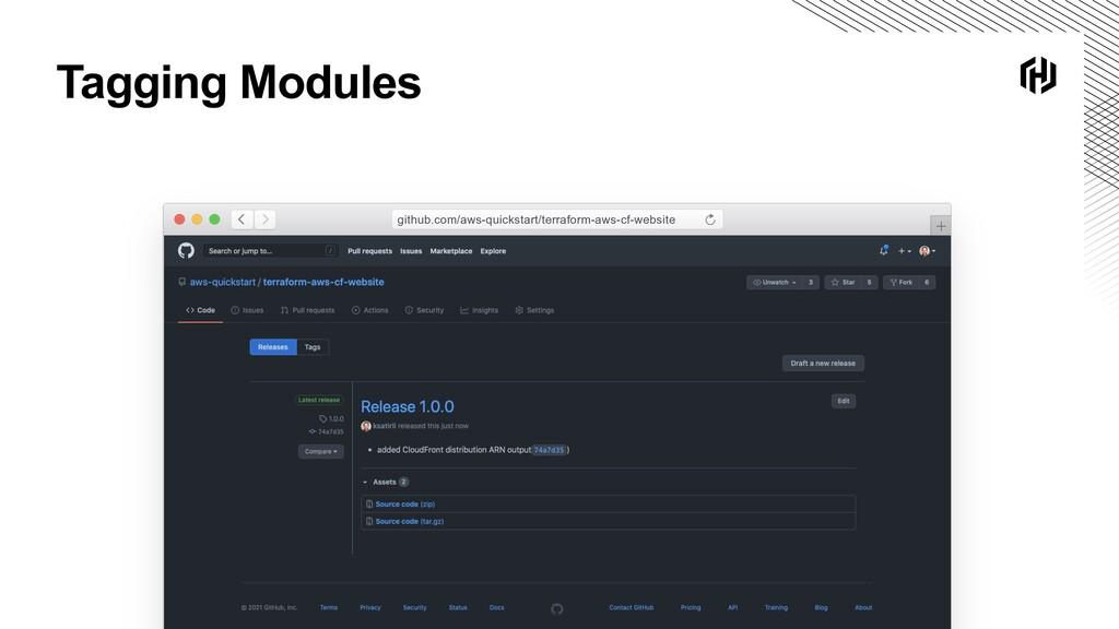 Tagging Modules github.com/aws-quickstart/terra...