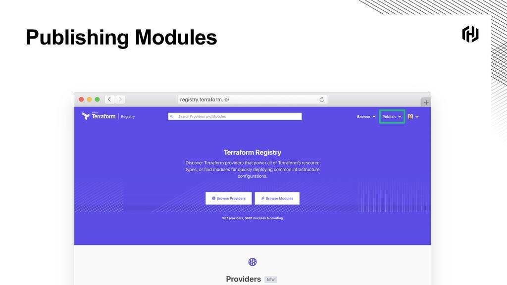 Publishing Modules registry.terraform.io/