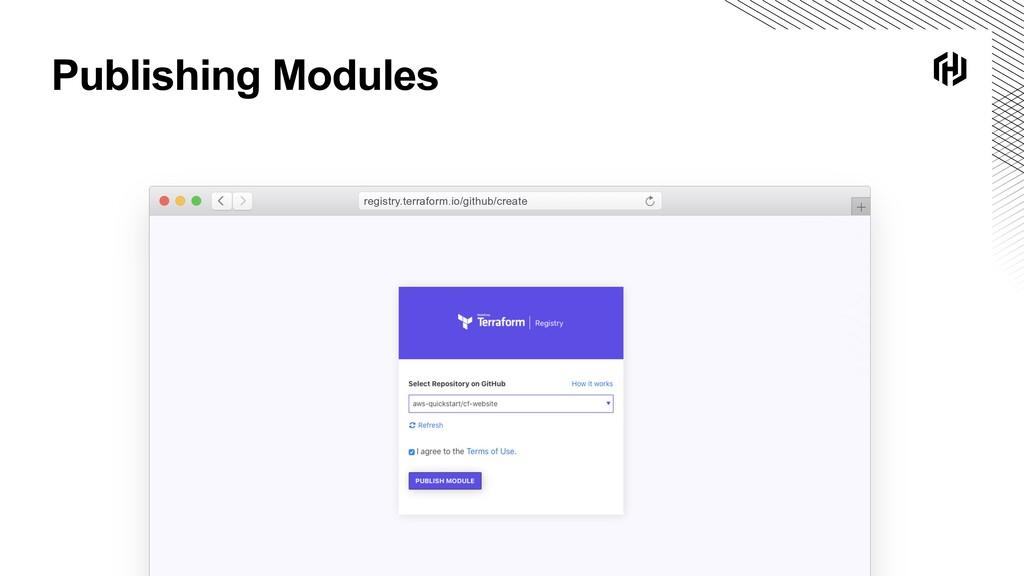 Publishing Modules registry.terraform.io/github...