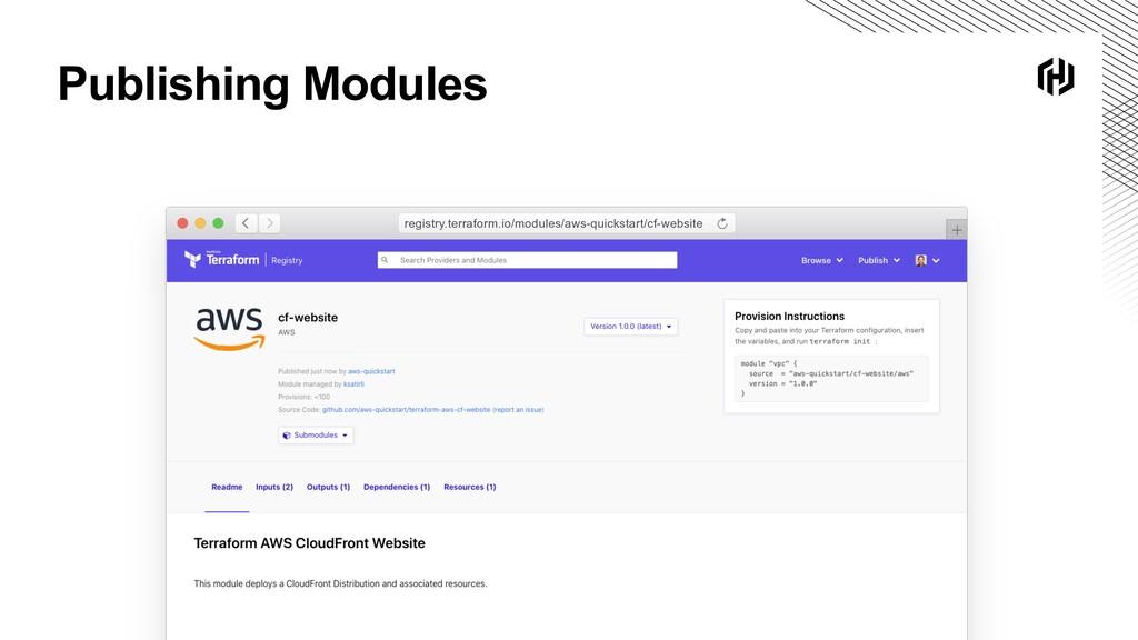 Publishing Modules registry.terraform.io/module...