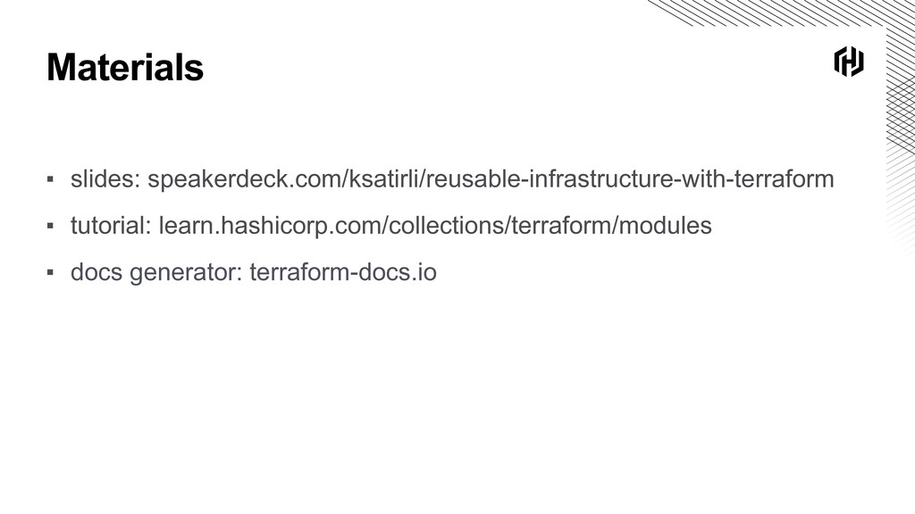 Materials ▪ slides: speakerdeck.com/ksatirli/re...