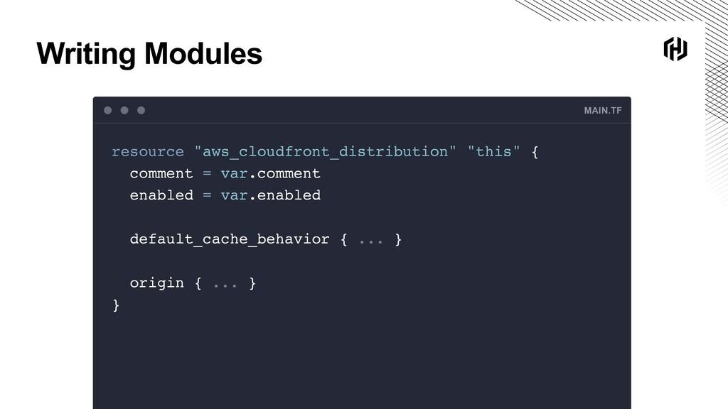 "Writing Modules MAIN.TF resource ""aws_cloudfron..."