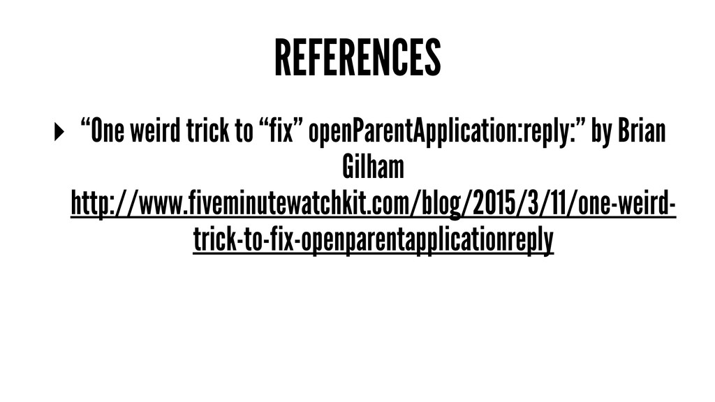"""REFERENCES ▸ """"One weird trick to """"fix"""" openPare..."""