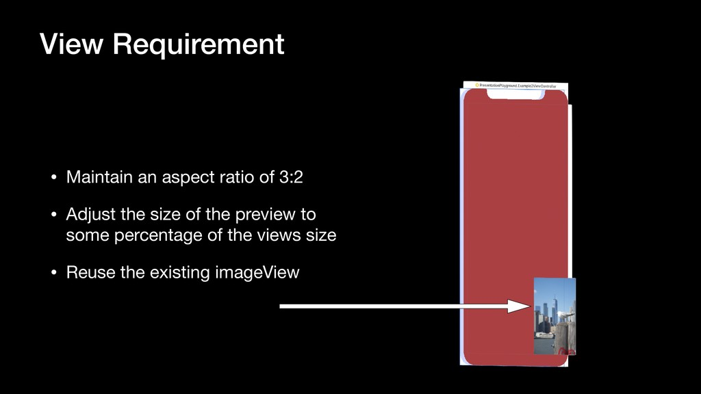 View Requirement • Maintain an aspect ratio of ...
