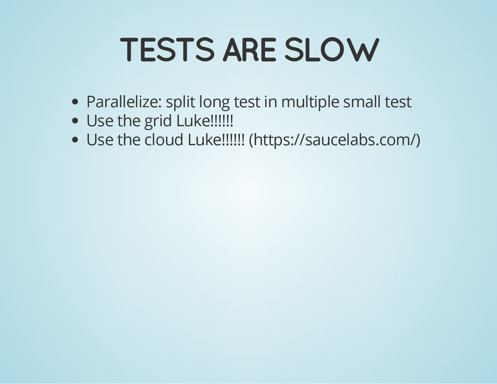 TESTS ARE SLOW Parallelize: split long test in ...