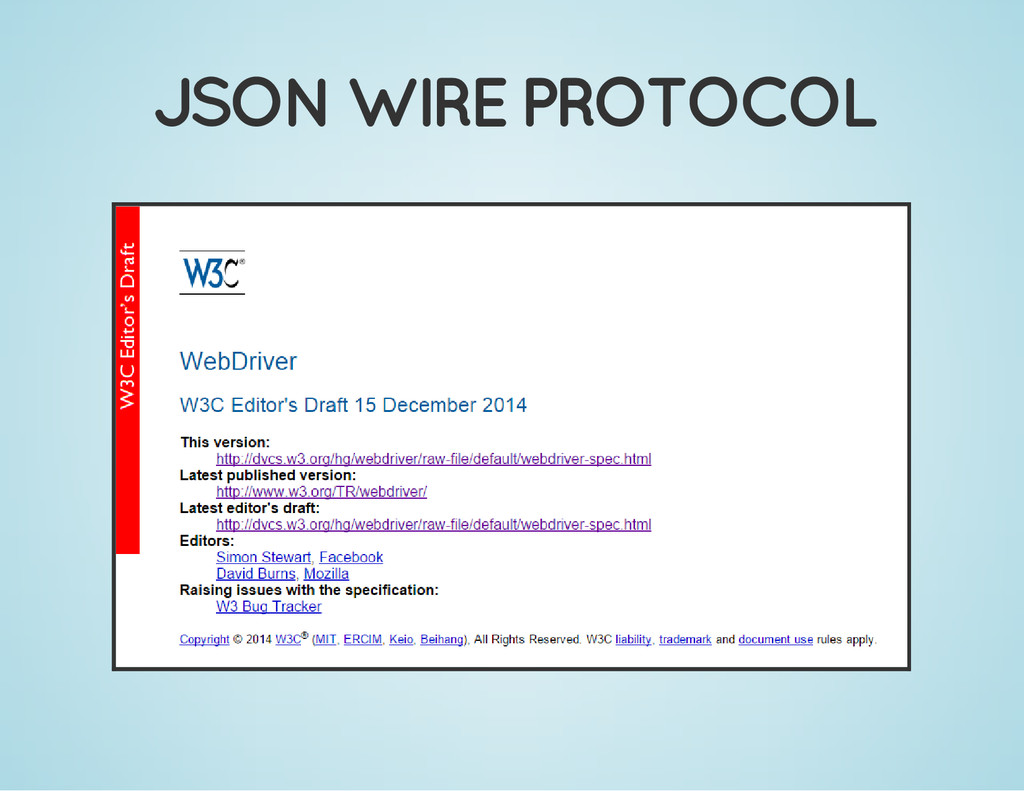 JSON WIRE PROTOCOL