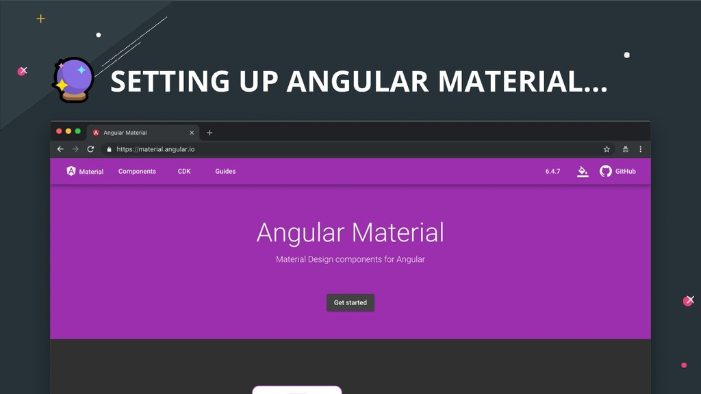 SETTING UP ANGULAR MATERIAL...