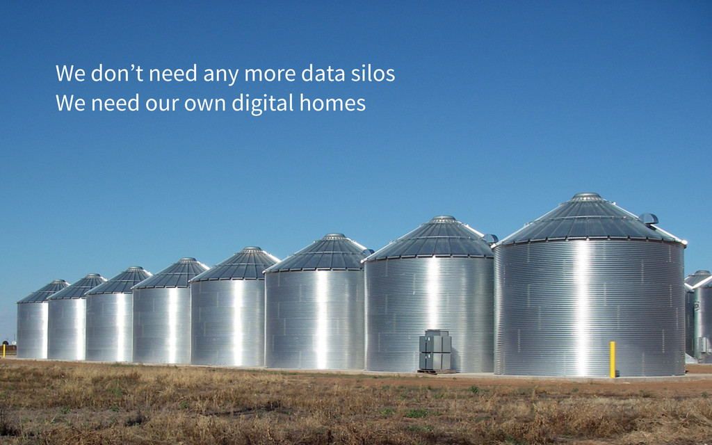 We don't need any more data silos We need our o...