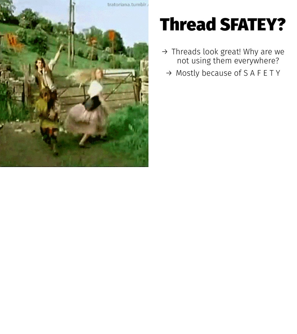Thread SFATEY? → Threads look great! Why are we...