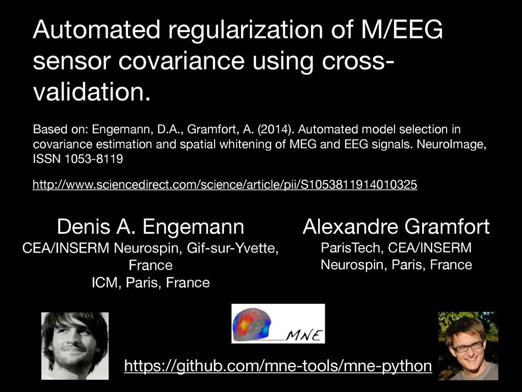 Automated regularization of M/EEG sensor covari...