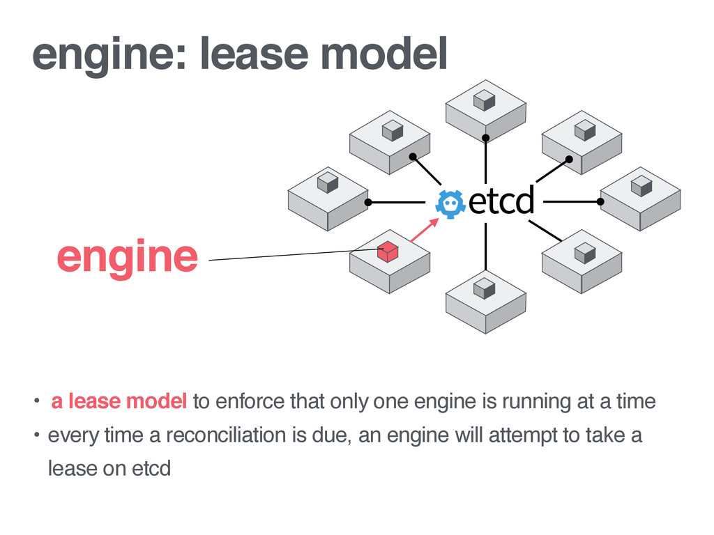engine: lease model • a lease model to enforce ...