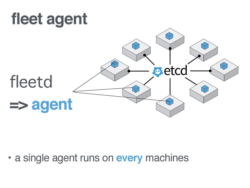 fleet agent • a single agent runs on every mach...