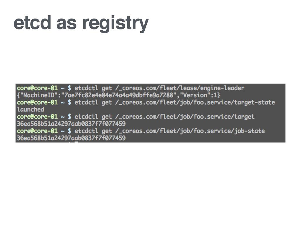 etcd as registry