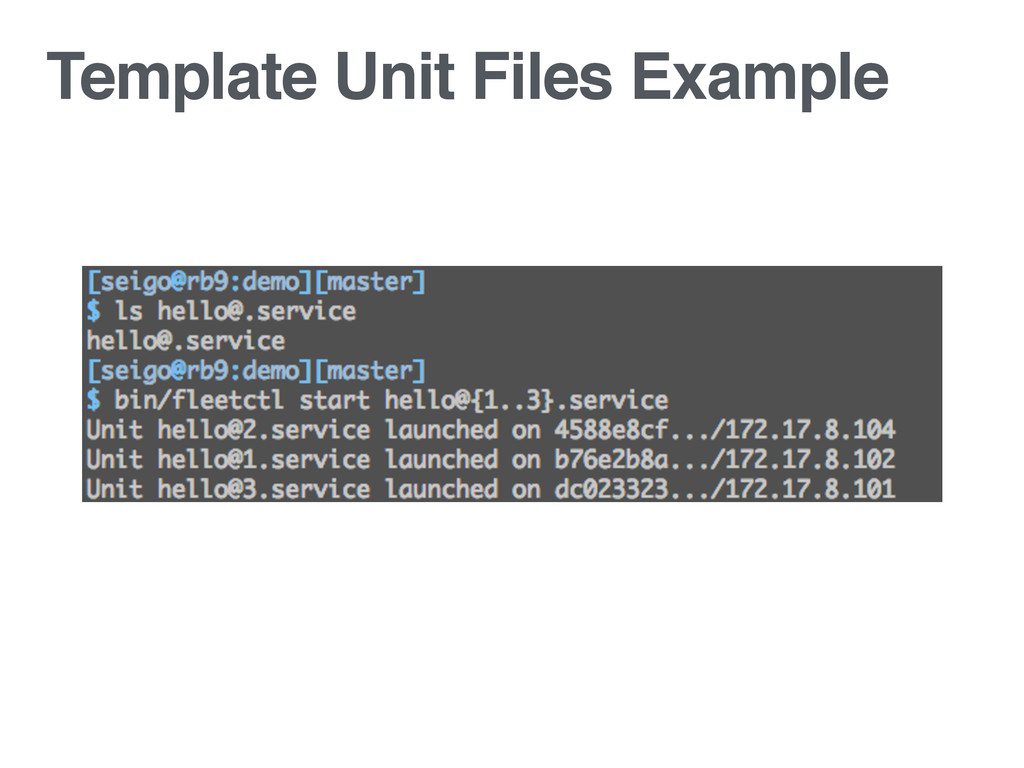 Template Unit Files Example