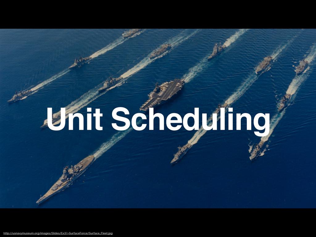 Unit Scheduling IUUQVTOBWZNVTFVNPSHJNBHFT...