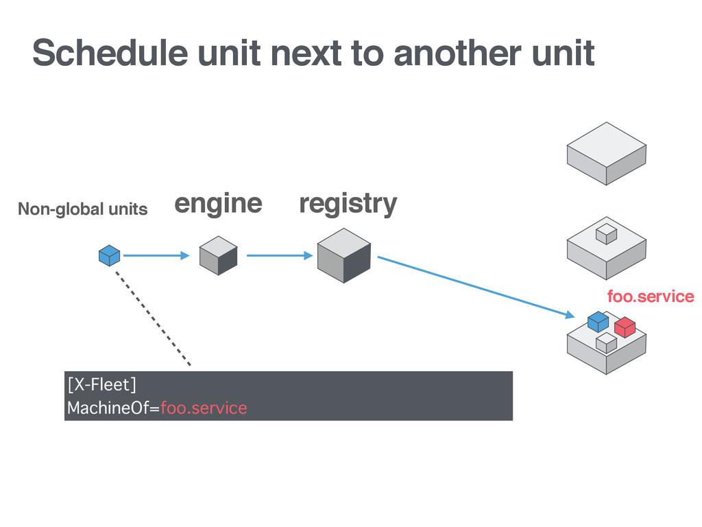 Schedule unit next to another unit registry Non...