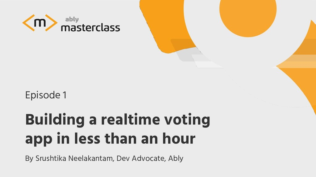 Building a realtime voting app in less than an ...