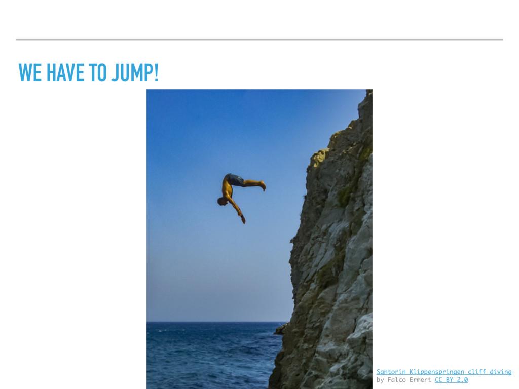 WE HAVE TO JUMP! Santorin Klippenspringen cliff...