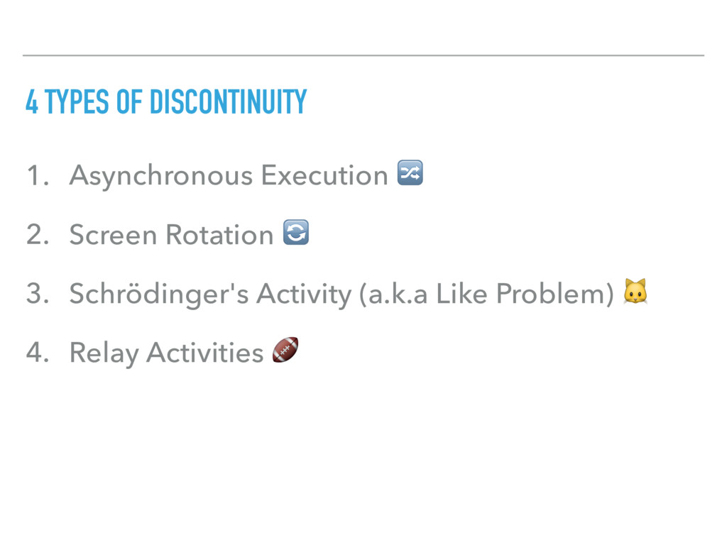 4 TYPES OF DISCONTINUITY 1. Asynchronous Execut...