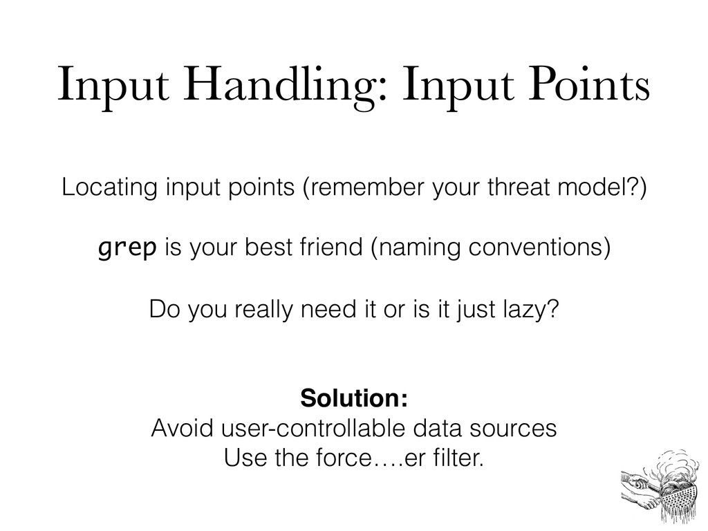 Input Handling: Input Points Locating input poi...
