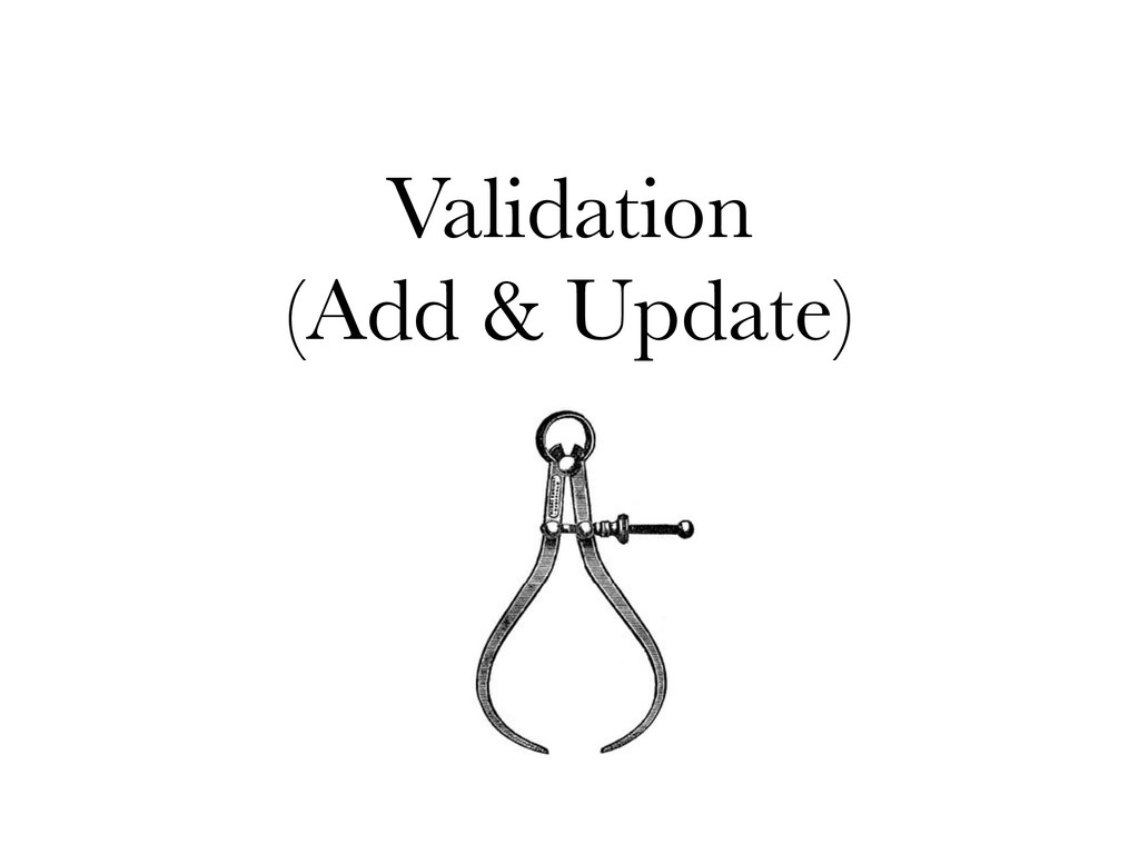 Validation (Add & Update)