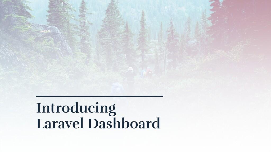 Introducing Laravel Dashboard