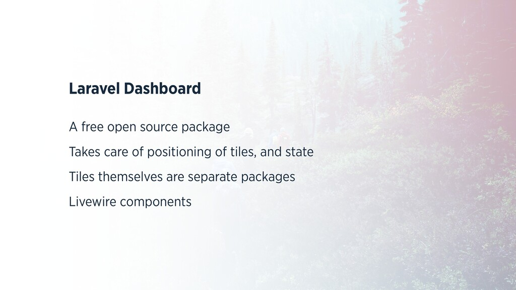 Laravel Dashboard   A free open source package ...