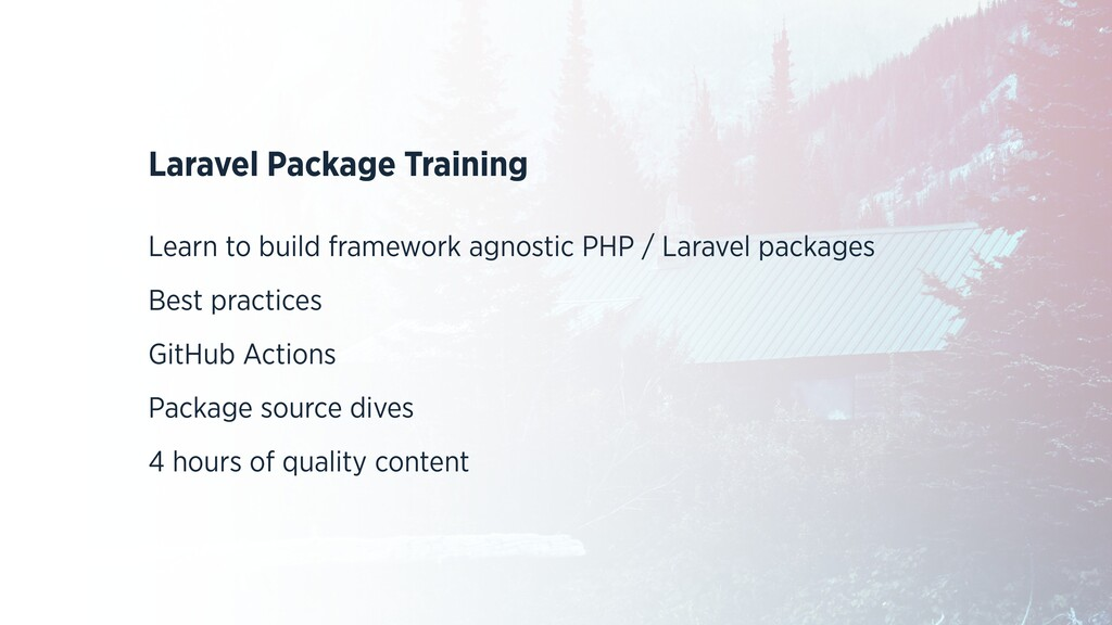 Laravel Package Training   Learn to build frame...