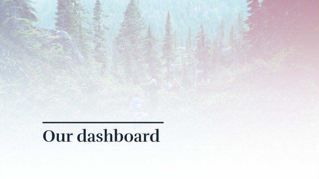 Our dashboard