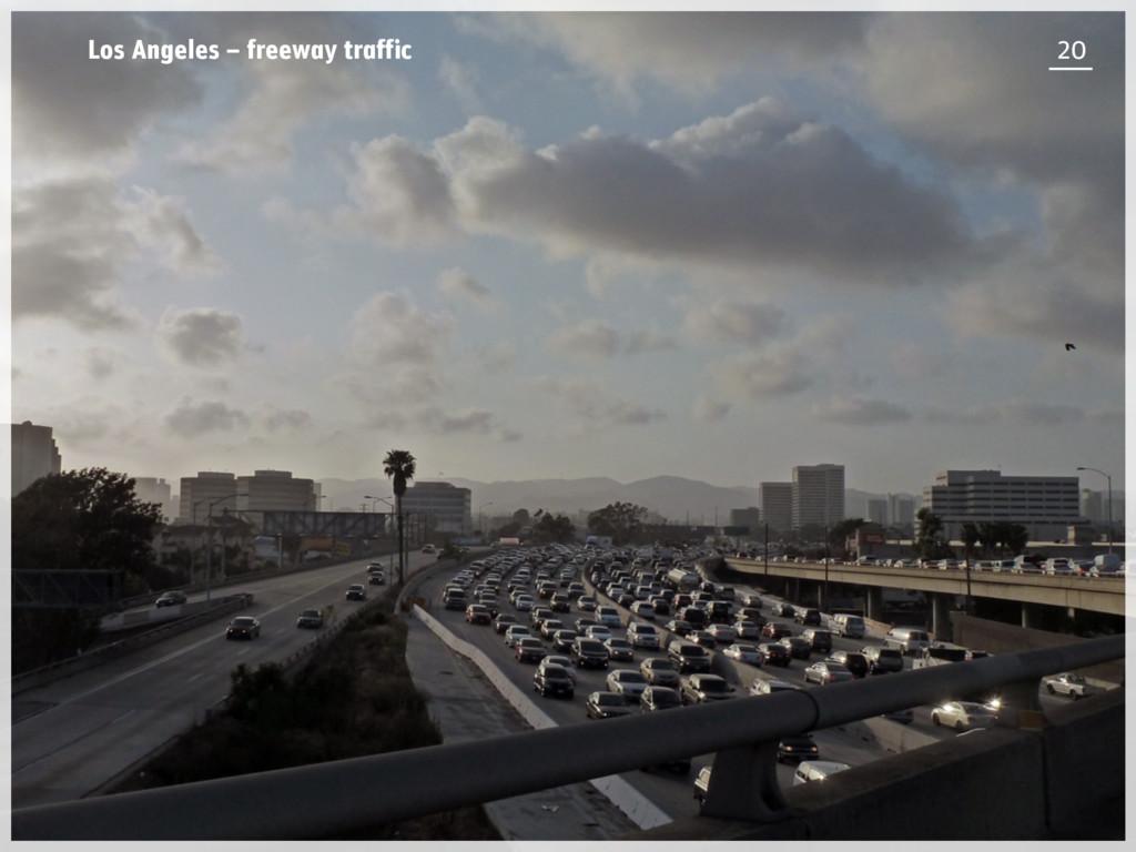 Los Angeles – freeway traffic 20