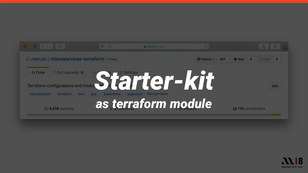 Starter-kit as terraform module