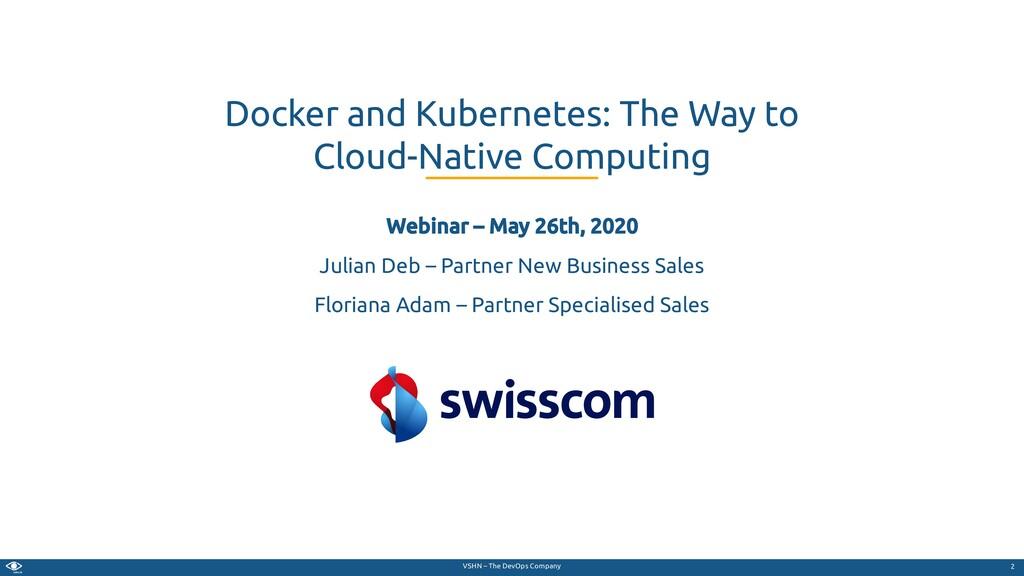 VSHN – The DevOps Company Webinar – May 26th, 2...