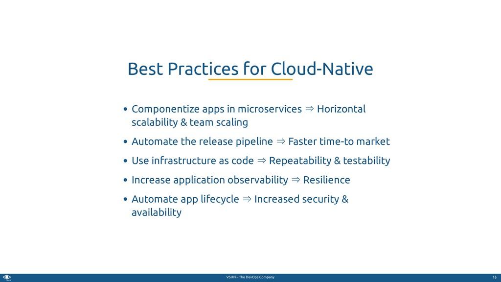 VSHN – The DevOps Company Componentize apps in ...