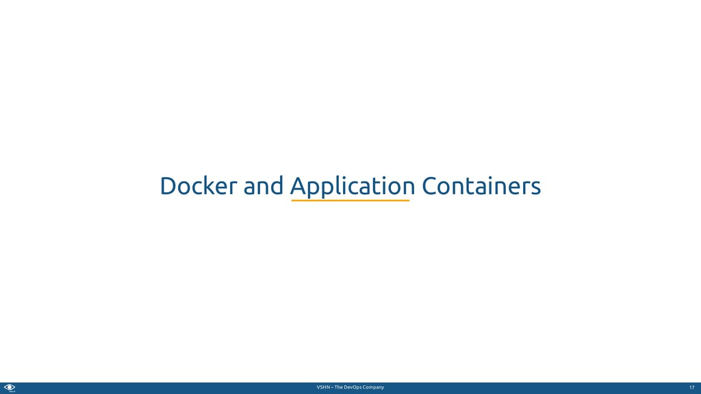 VSHN – The DevOps Company Docker and Applicatio...