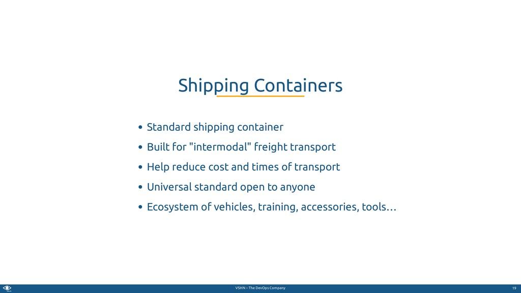 VSHN – The DevOps Company Standard shipping con...