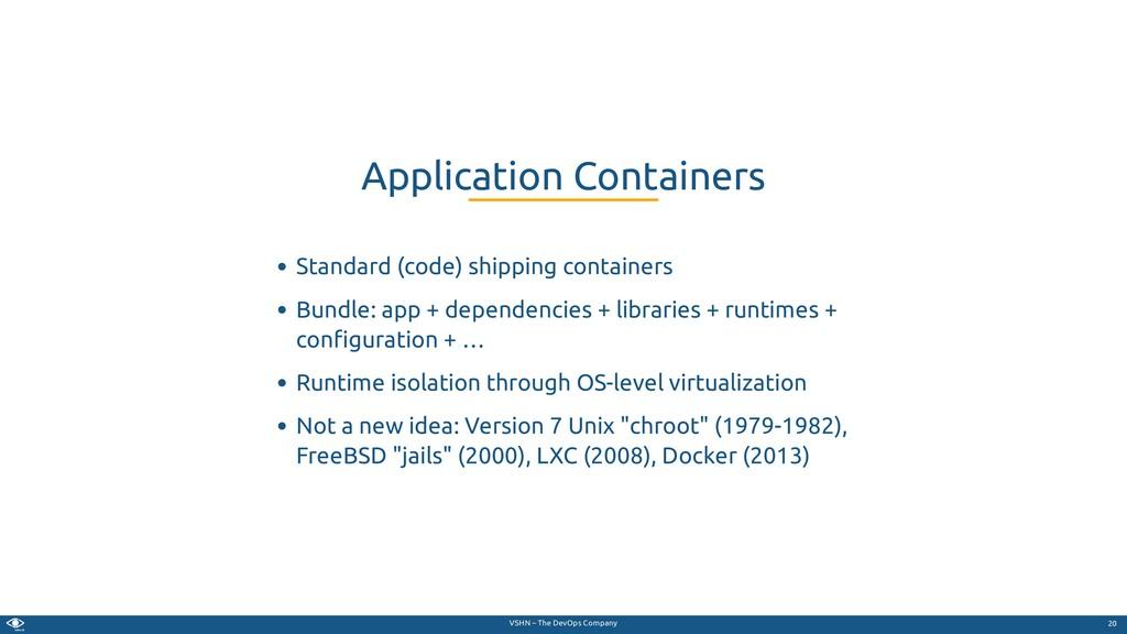 VSHN – The DevOps Company Standard (code) shipp...