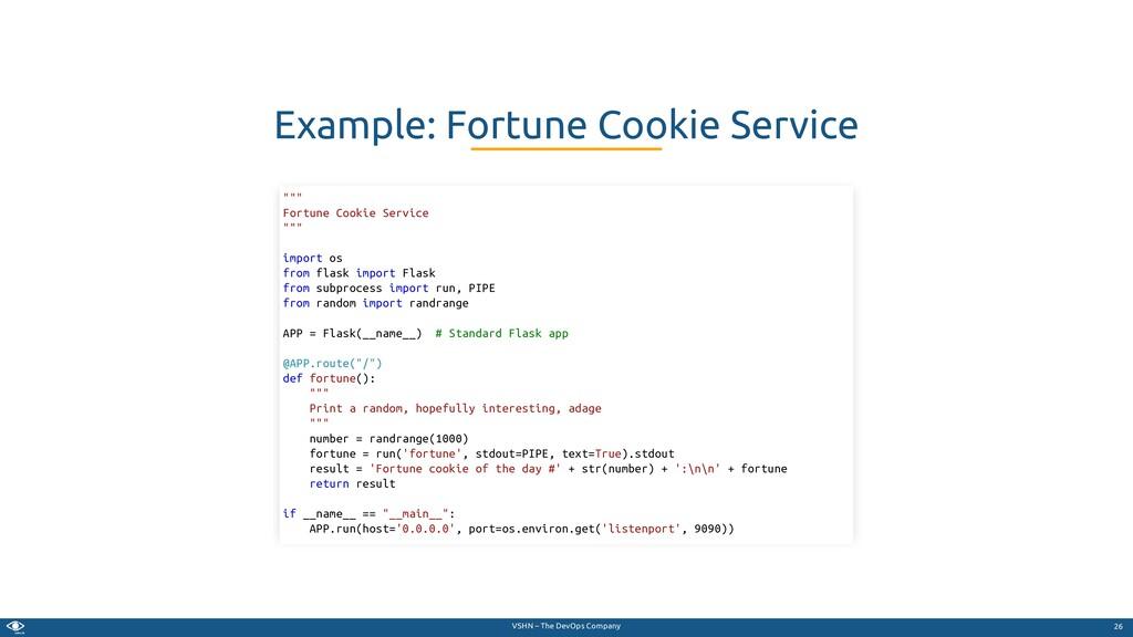 VSHN – The DevOps Company Example: Fortune Cook...