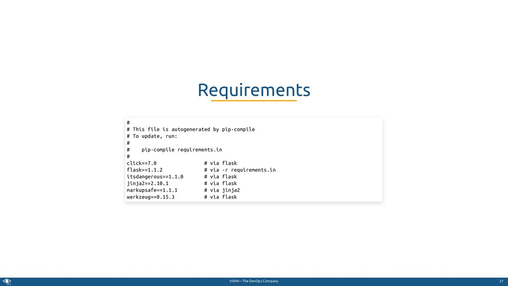 VSHN – The DevOps Company Requirements # # This...
